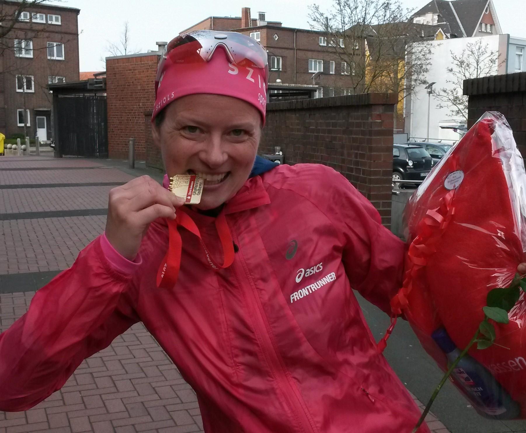 Glücklich im Nordsee-Wind: Marathon in Cuxhaven