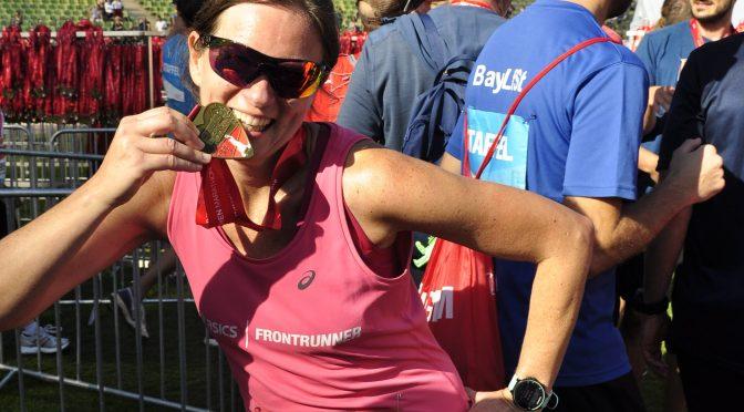Marathonis strahlen in München mit der Sonne um die Wette