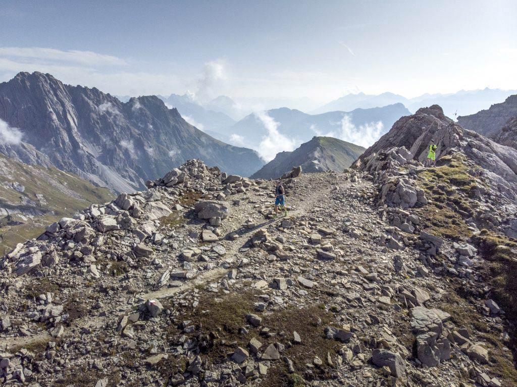 Schotterpiste beim Trailrun Wochenende in Imst.