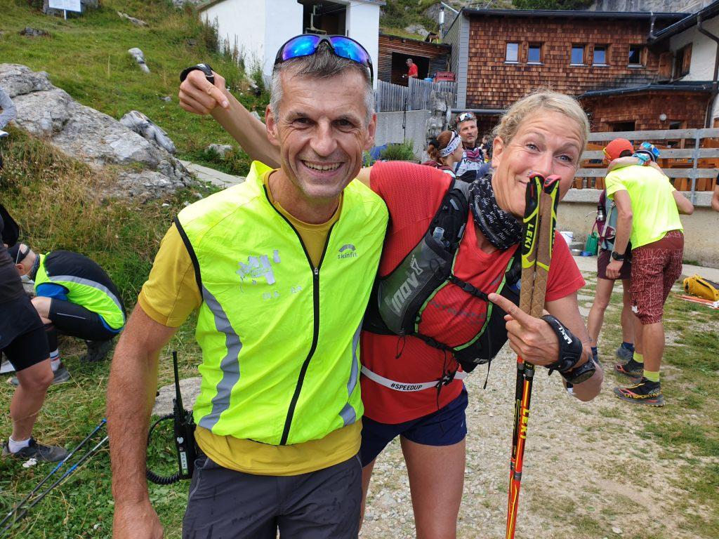 Judith und Tommi von der Bergwacht.