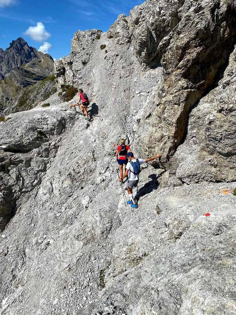 Ein Klettersteigabschnitt beim Dynafit Trailrun3 am Wochenende in Imst.
